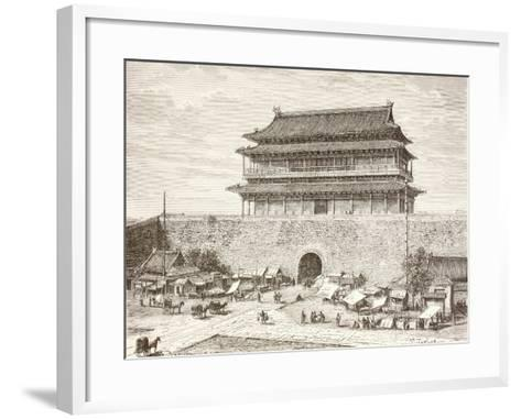 The Tiananmen Gate in Peking in the 1880S--Framed Art Print