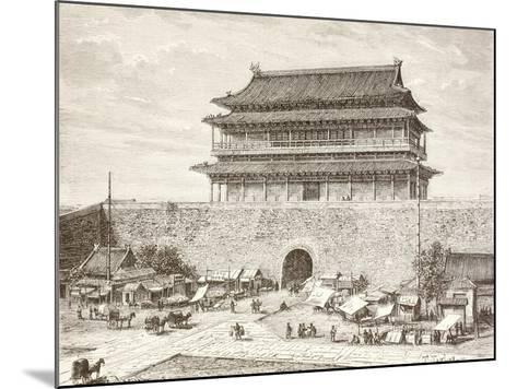 The Tiananmen Gate in Peking in the 1880S--Mounted Giclee Print