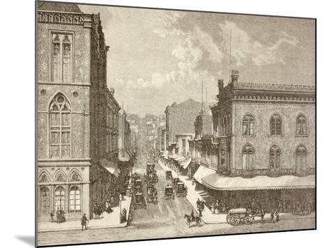 Montgomery Street, San Francisco in the 1880S--Mounted Giclee Print