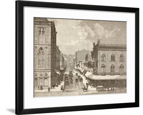 Montgomery Street, San Francisco in the 1880S--Framed Art Print