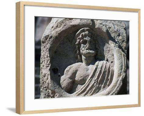 Relief with Bust of Zeus, Petra--Framed Art Print