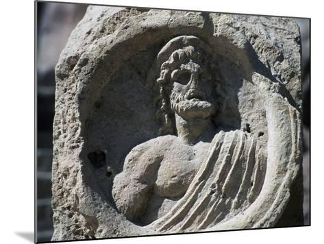 Relief with Bust of Zeus, Petra--Mounted Photographic Print