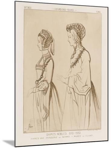 Noble Women, 1510-1520-Raphael Jacquemin-Mounted Giclee Print