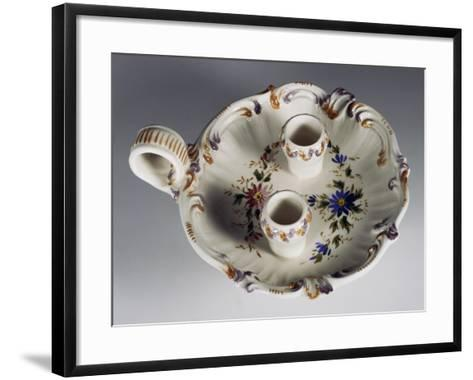 Candlestick with Floral Decoration--Framed Art Print