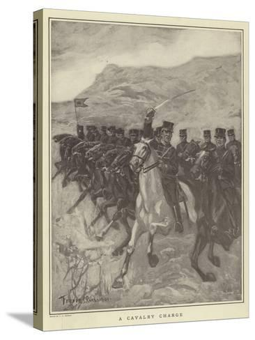A Cavalry Charge-Fletcher C. Ransom-Stretched Canvas Print