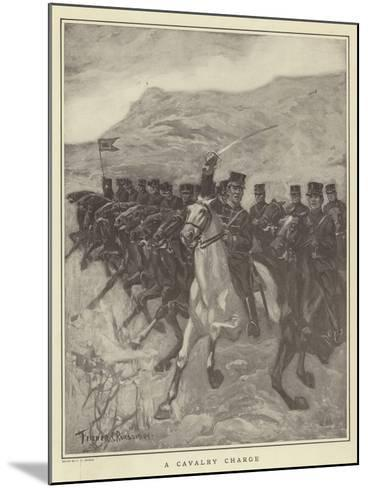 A Cavalry Charge-Fletcher C. Ransom-Mounted Giclee Print