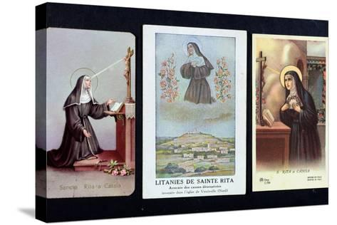 Three Depictions of St. Rita of Cascia--Stretched Canvas Print