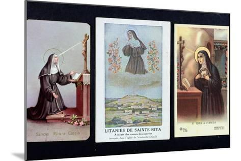 Three Depictions of St. Rita of Cascia--Mounted Giclee Print