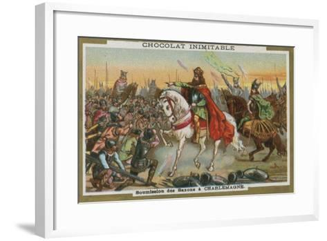 Submission of the Saxons to Charlemagne--Framed Art Print