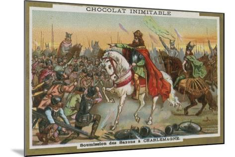 Submission of the Saxons to Charlemagne--Mounted Giclee Print