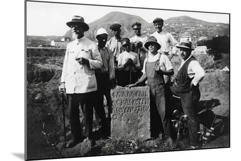 Italian Archaeologist Paolo Orsi--Mounted Giclee Print