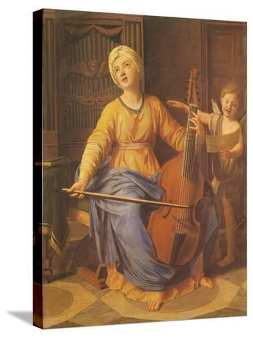 St. Cecilia-Nicolas Colombel-Stretched Canvas Print