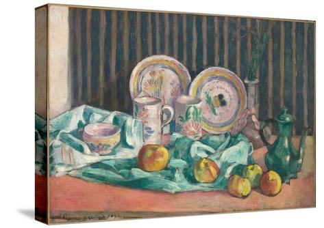 Still Life with Apples and Fruit Dishes, C.1906-Emile Bernard-Stretched Canvas Print