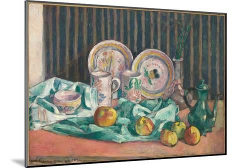 Still Life with Apples and Fruit Dishes, C.1906-Emile Bernard-Mounted Giclee Print