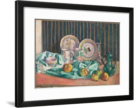 Still Life with Apples and Fruit Dishes, C.1906-Emile Bernard-Framed Art Print