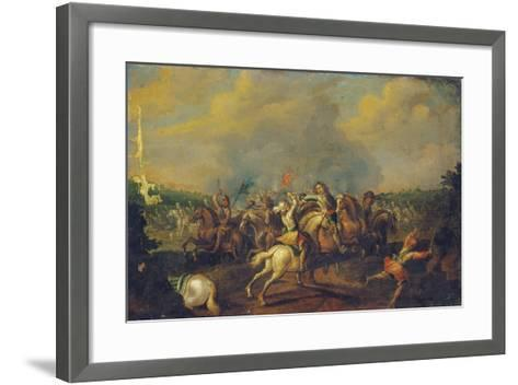 A Cavalry Skirmish-Palamedes Palamedesz-Framed Art Print