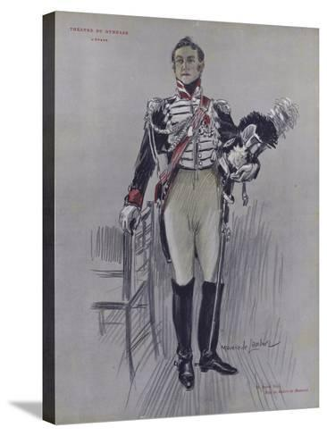 Andre Hall as Robert De Montenoi in L'Epave--Stretched Canvas Print