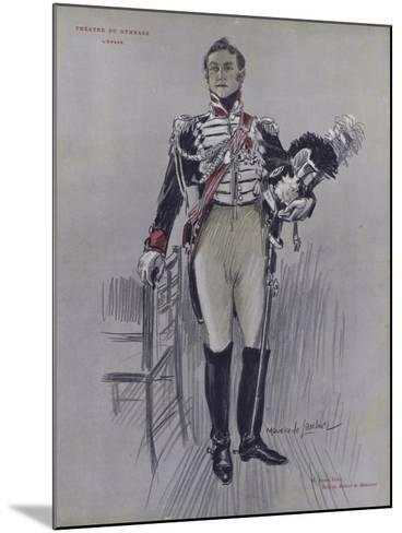 Andre Hall as Robert De Montenoi in L'Epave--Mounted Giclee Print