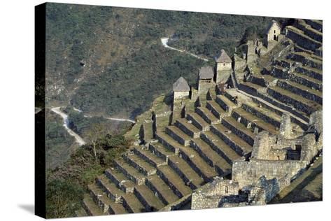 Terraces, Machu Picchu--Stretched Canvas Print