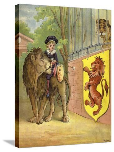 Riding a Lion-Richard Andre-Stretched Canvas Print