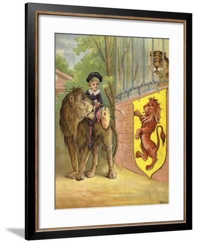 Riding a Lion-Richard Andre-Framed Art Print