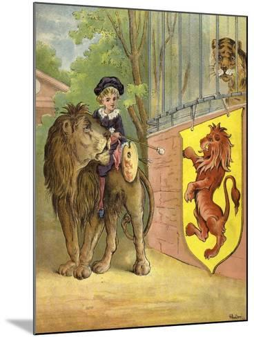 Riding a Lion-Richard Andre-Mounted Giclee Print