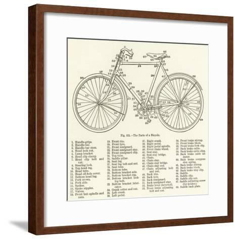 The Parts of a Bicycle--Framed Art Print
