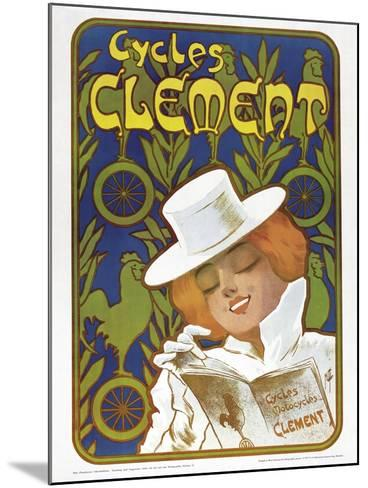 Poster Advertising 'Clement' Bicycles--Mounted Giclee Print