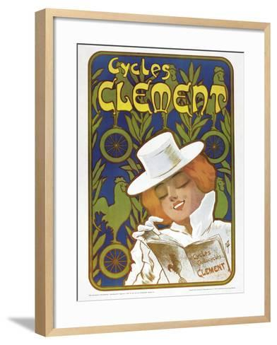 Poster Advertising 'Clement' Bicycles--Framed Art Print