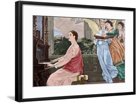 Saint Cecilia--Framed Art Print