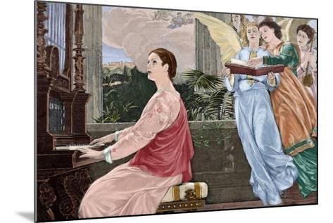 Saint Cecilia--Mounted Giclee Print