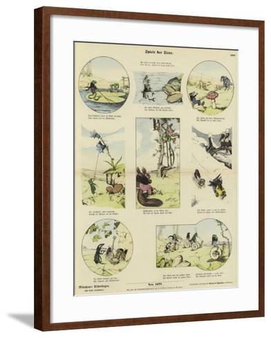 Animals' Games--Framed Art Print