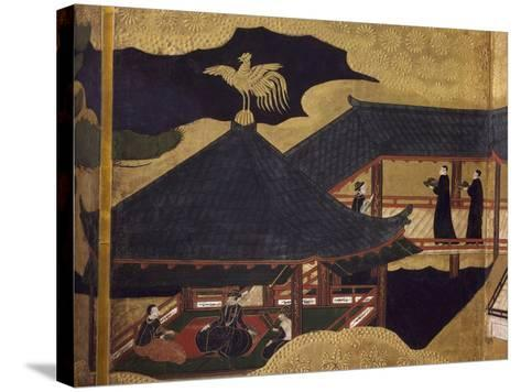 Ambassador's Reception, Detail of Byobu--Stretched Canvas Print