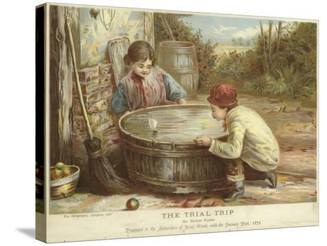 The Trial Trip-Myles Birket Foster-Stretched Canvas Print
