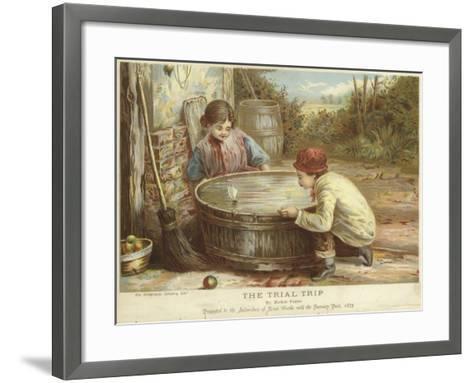 The Trial Trip-Myles Birket Foster-Framed Art Print