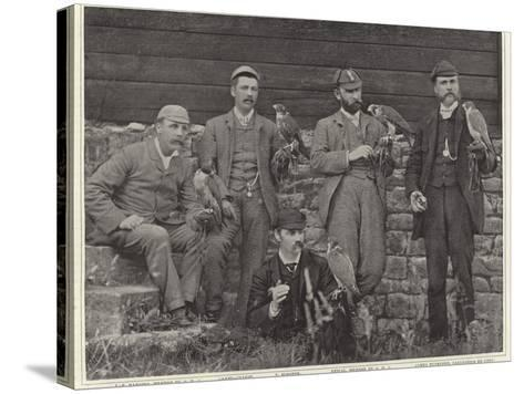 Members of the Old Hawking Club--Stretched Canvas Print