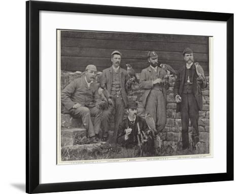 Members of the Old Hawking Club--Framed Art Print