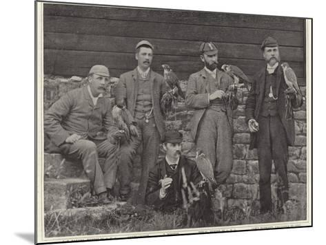 Members of the Old Hawking Club--Mounted Photographic Print
