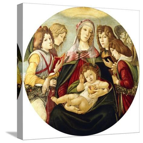The Madonna and Child with Four Angels-Sandro Botticelli-Stretched Canvas Print
