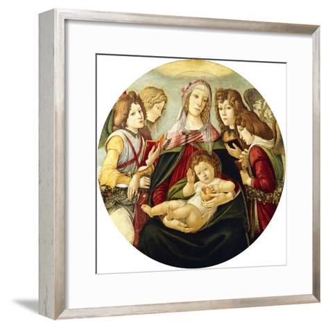 The Madonna and Child with Four Angels-Sandro Botticelli-Framed Art Print
