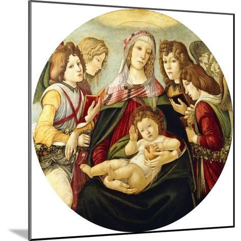 The Madonna and Child with Four Angels-Sandro Botticelli-Mounted Giclee Print