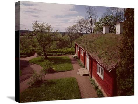 View of the House and Gardens of Carl Linnaeus--Stretched Canvas Print