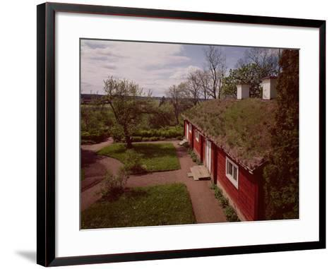 View of the House and Gardens of Carl Linnaeus--Framed Art Print