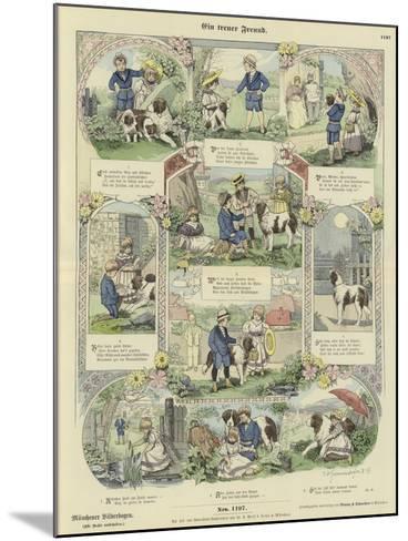 A Faithful Friend--Mounted Giclee Print