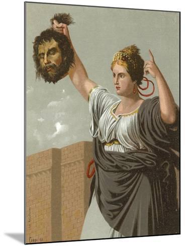 Judith with the Head of Holofernes--Mounted Giclee Print