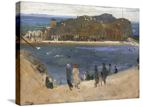 The Bathing Pool, North Berwick, 1919-Sir John Lavery-Stretched Canvas Print