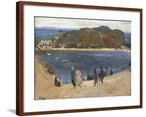 The Bathing Pool, North Berwick, 1919-Sir John Lavery-Framed Art Print