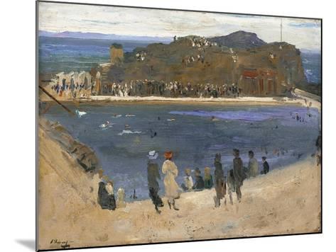 The Bathing Pool, North Berwick, 1919-Sir John Lavery-Mounted Giclee Print