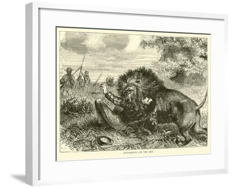 Livingstone and the Lion--Framed Art Print