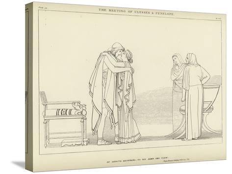 The Meeting of Ulysses and Penelope-John Flaxman-Stretched Canvas Print